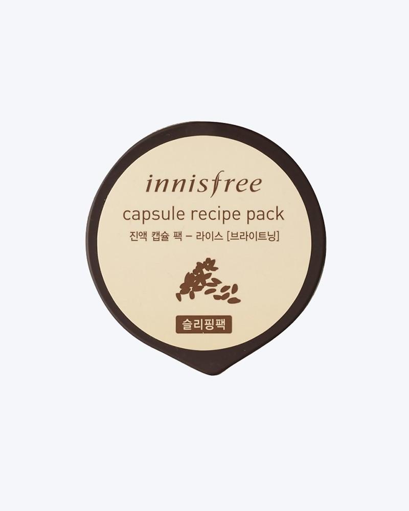Innisfree Капсульная ночная маска с экстрактом риса Сapsule Recipe Pack Rice