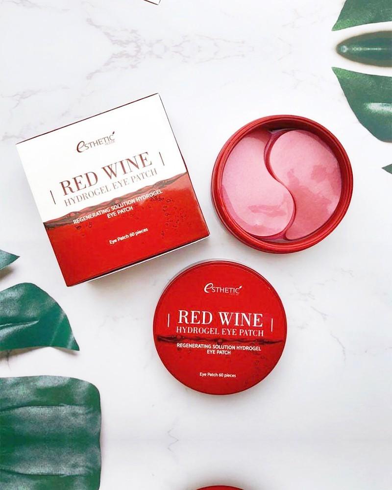 Esthetic House Гидрогелевые патчи для глаз с экстрактом красного вина Red Wine Hydrogel Eye Patch